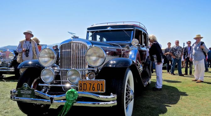 1934 Duesenberg SJ Rollston Limousine at the 2014 Pebble Beach Concours