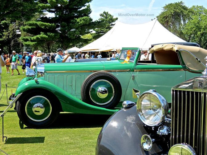 1934 Hispano-Suiza J-12 Sedanca Drophead Coupe at the Concours of the Americas