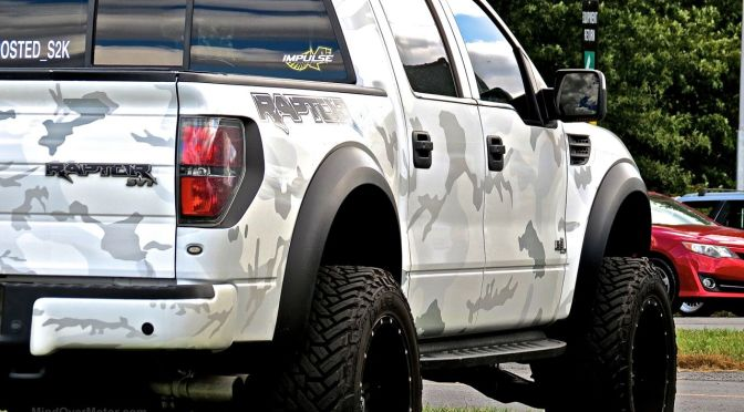 Camo Ford SVT Raptor at First Class Fitment | Mind Over Motor2015 Ford Raptor Lifted