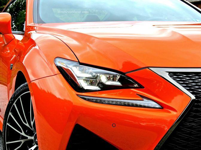 Orange Lexus RC-F Review 4