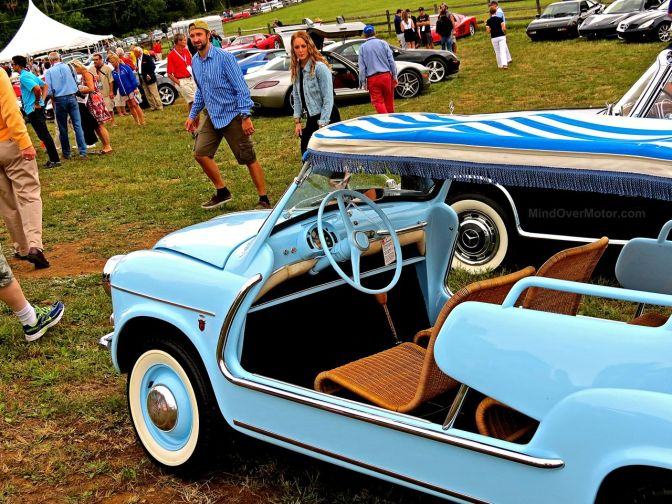 Baby Blue Fiat Jolly at Radnor Hunt