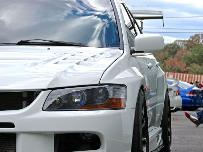 Stanced Mitsubishi Lancer Evo at First Class Fitment