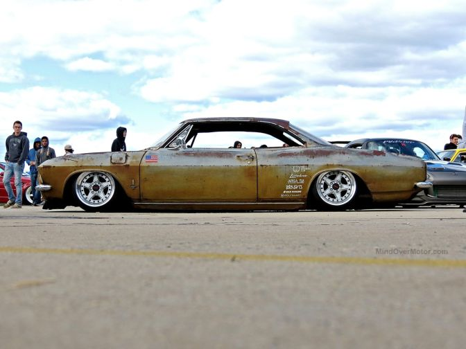 Slammed Chevy Corvair at First Class Fitment