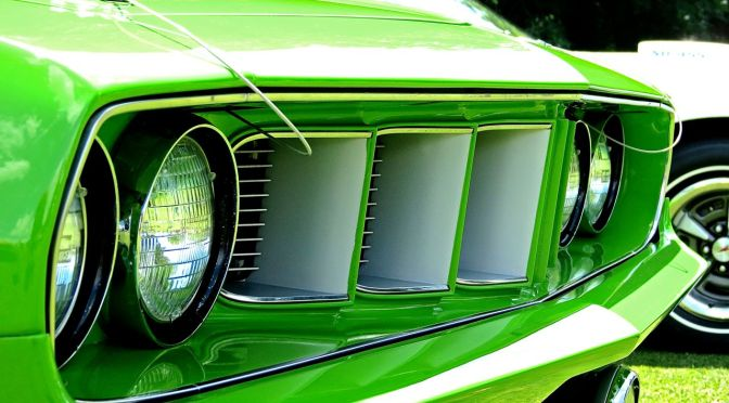 This 1971 Plymouth Hemicuda is a Mean Green Muscle Machine!
