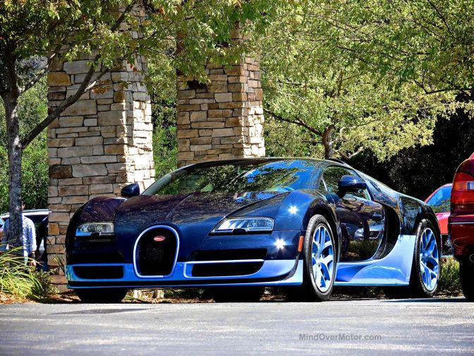 Bugatti Veyron Grand Sport Vitesse Blue Carbon at the Quail Lodge