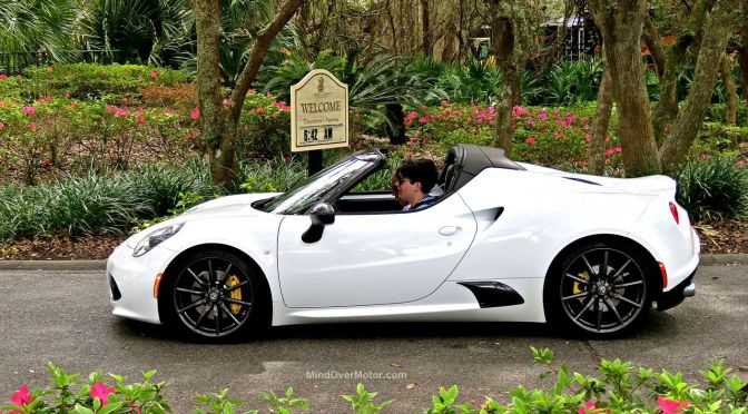 alfa romeo 4c spider review: a recipe perfected | mind over motor