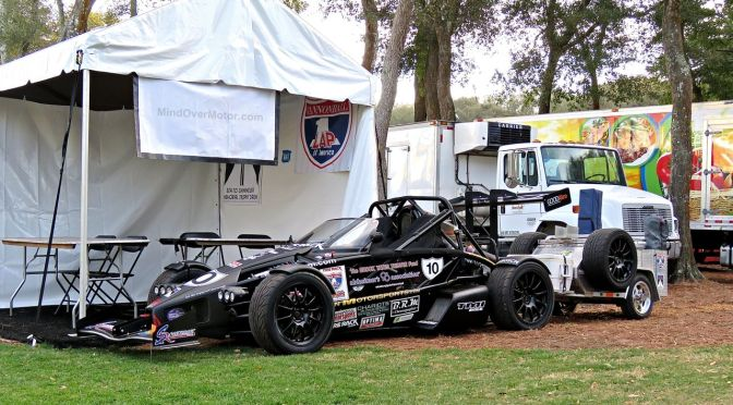 Ariel Atom with a cart at Amelia Island