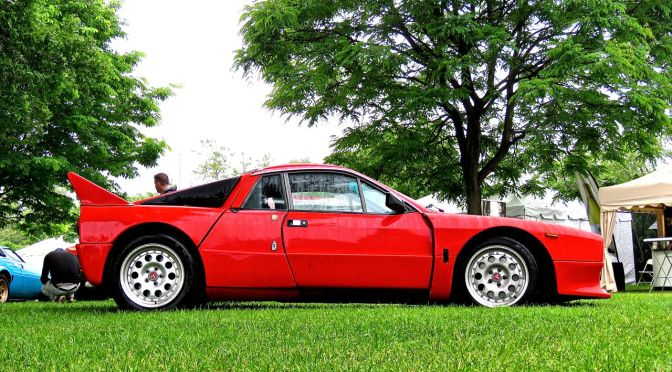 Lancia 037 at a rainy Greenwich Concours
