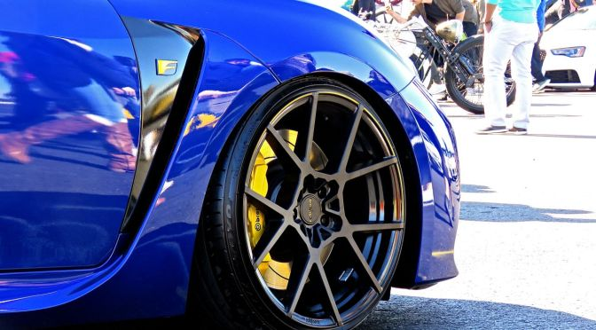 Stanced Lexus RC F at First Class Fitment