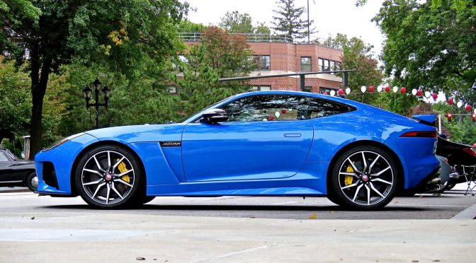 Jaguar F-Type SVR in the most Ultra of Blues