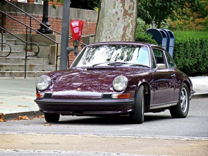 A Purple Porsche 911E in Scarsdale