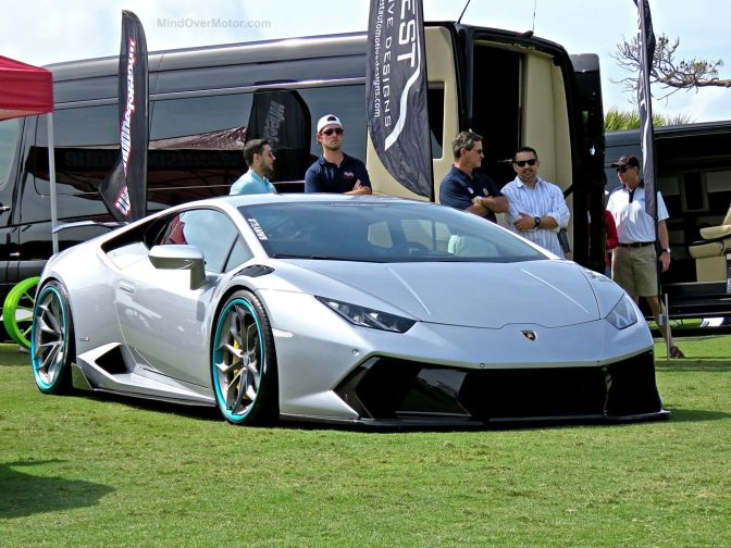 Modified Lamborghini Huracan at Amelia Island