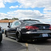 Blacked-out VW CC at First Class Fitment