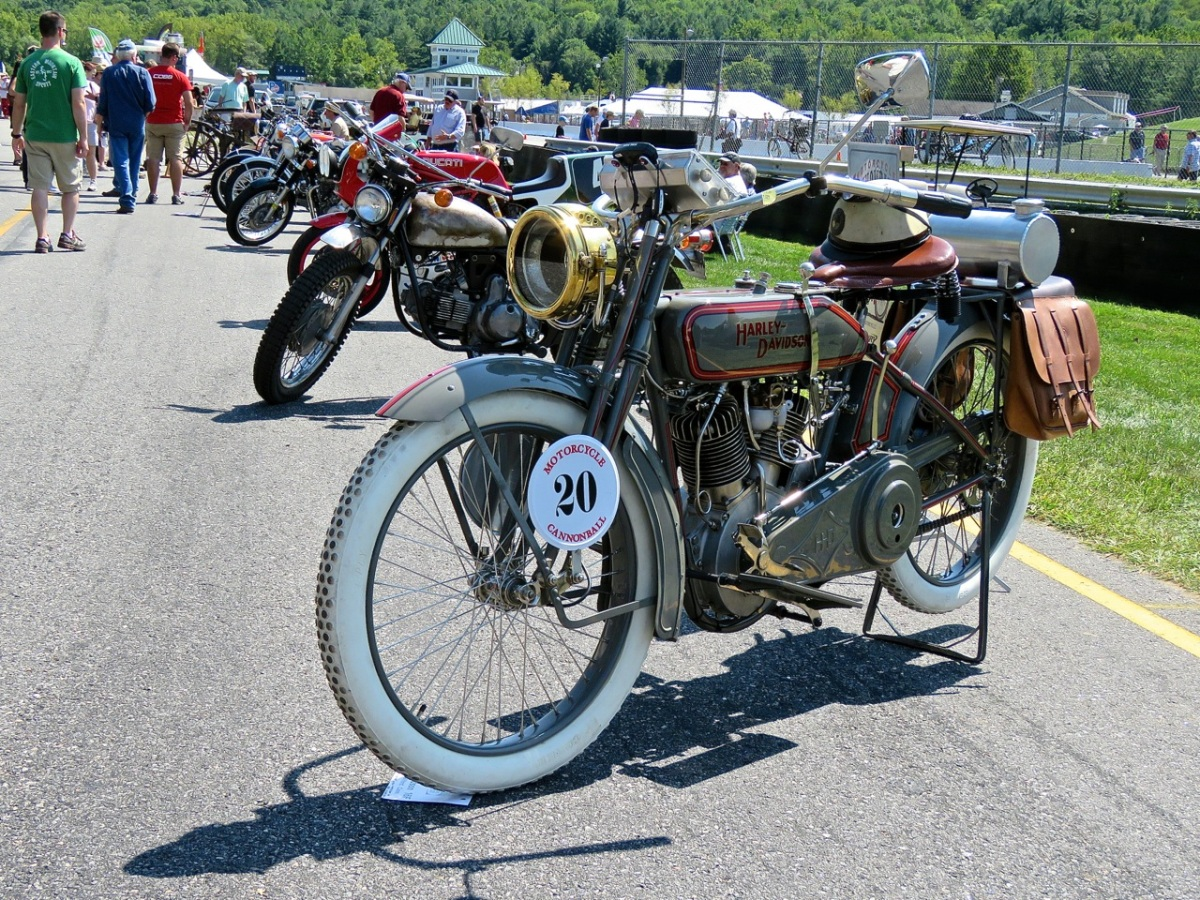 1916 Harley-Davidson 16F at Lime Rock