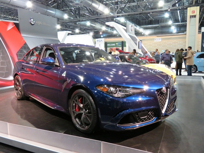 The Alfa Romeo Giulia QV in its best color