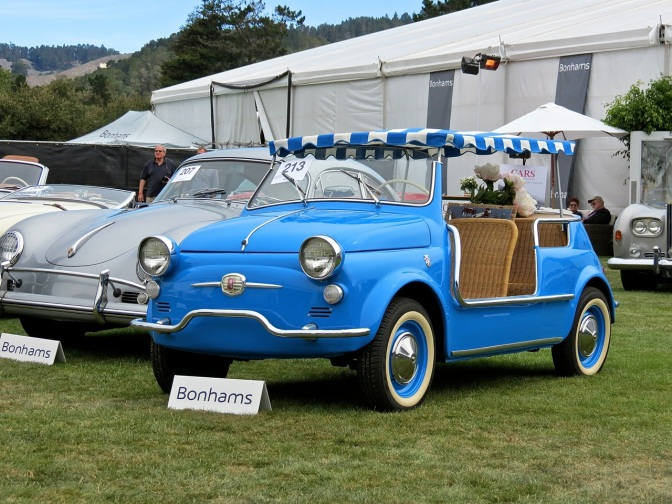 This Fiat Jolly is the bluest of blues!