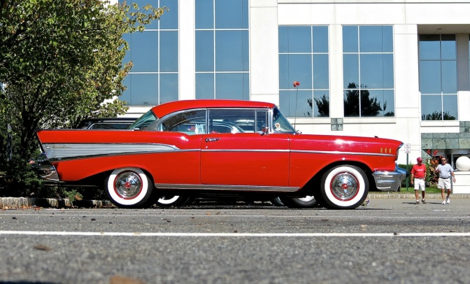 A Rockin' Red Chevy Bel Air at Lead East