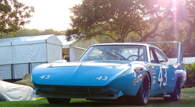 The Sun Gleams Down Upon Richard Petty's #43 Plymouth Superbird