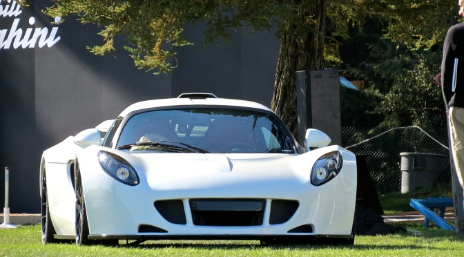 An Albino Hennessey Venom GT at the Quail