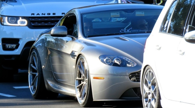 An Aston Vantage with a nice stance