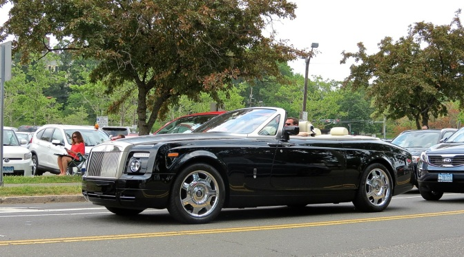 Rolls Royce Phantom Drophead spotted in Greenwich, because of course