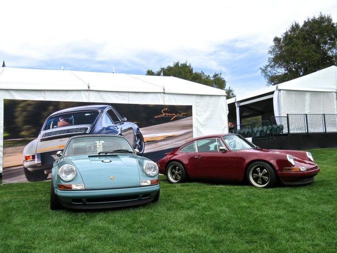 Porsche 911s beautifully reimagined by Singer at Amelia Island
