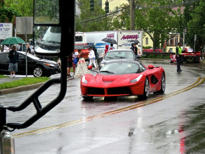 LaFerrari Hypercar Spotted in the Rain in Greenwich, CT