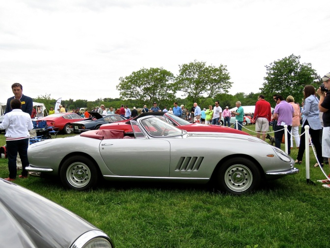 This Ferrari 275 N.A.R.T. Spider showed Greenwich some serious class