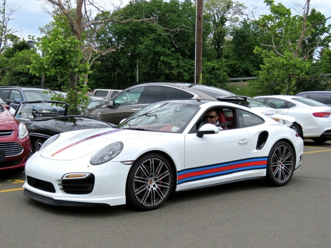 Porsche 991 Turbo with a Martini-style livery spotted in Greenwich, CT