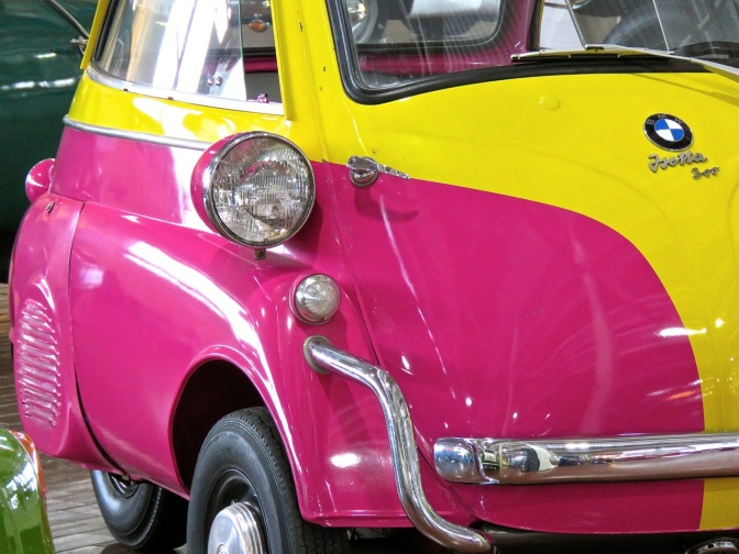 This BMW Isetta 300 gave my day some hot pink style at the Lane Motor Museum