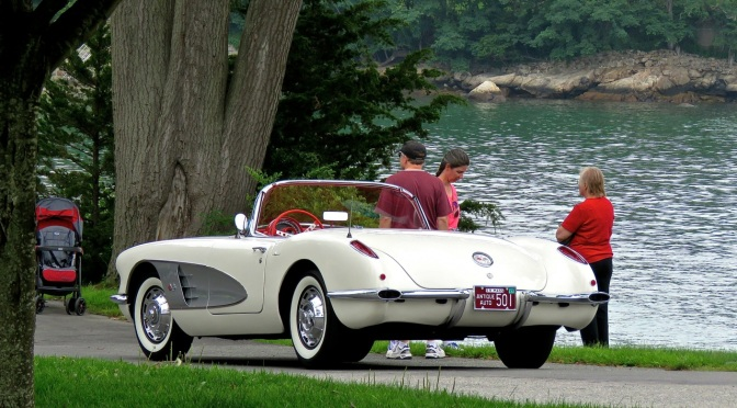 A C1 Corvette looking oh so stylish on the coast at Misselwood