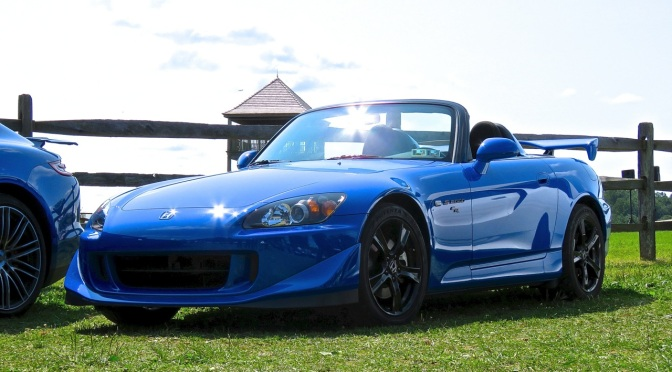 Honda S2000 CR in the parking lot at Radnor Hunt
