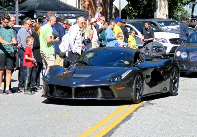 This dark gray LaFerrari was lurking at the Scarsdale Concours