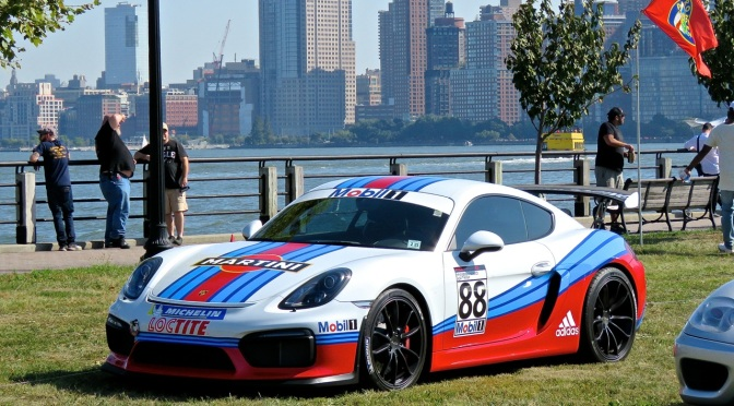 A Martini Porsche Cayman GT4 at Driven by Purpose
