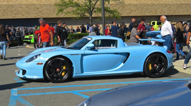 Baby Blue Porsche Carrera GT at Cars and Caffe