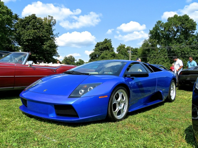 Blue Lamborghini Murcielago Spotted in the Car Corral at Radnor Hunt