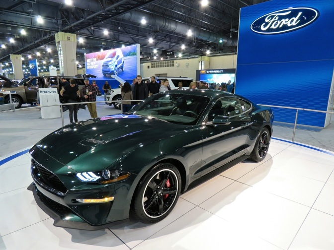 The New Bullitt Mustang at the Philly Auto Show