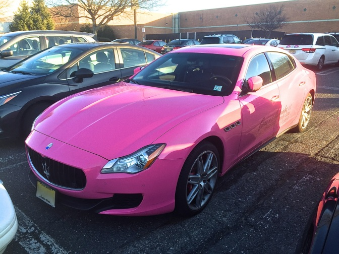 Hot Pink Maserati Quattroporte spotted in Freehold, NJ