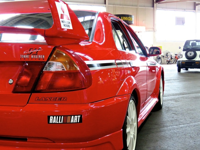 Mitsubishi Lancer Evo VI Tommi Makinen Edition at the Lane Motor Museum