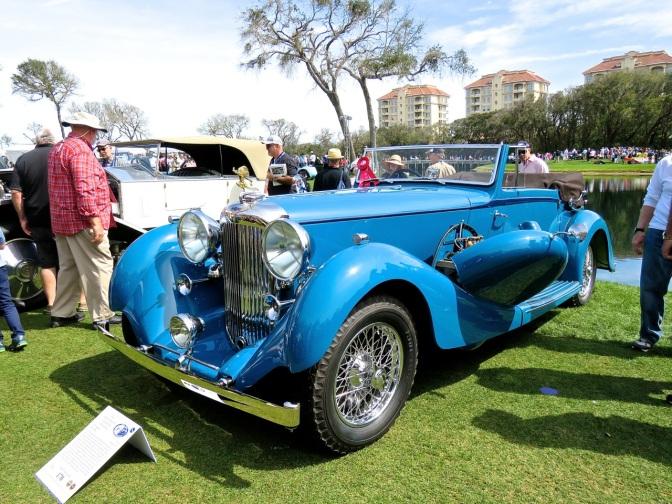 1936 Lagonda LG45 at the Amelia Island Concours