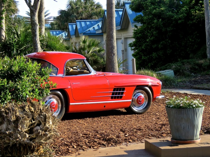 Ruby Red Mercedes-Benz 300SL Roadster at RM Auctions Amelia Island
