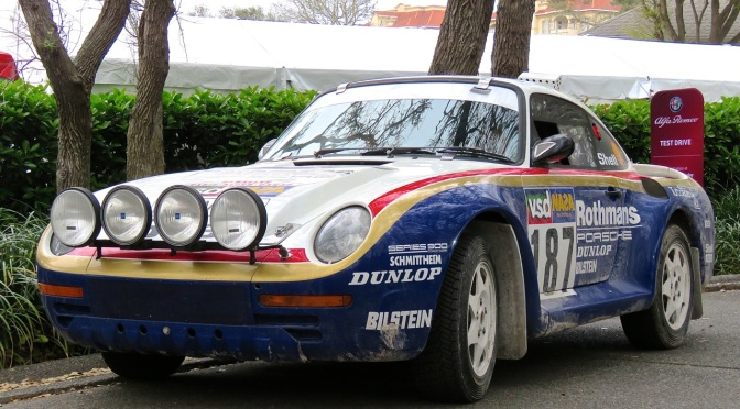 Porsche 959 Rally Car Spotted at Amelia Island