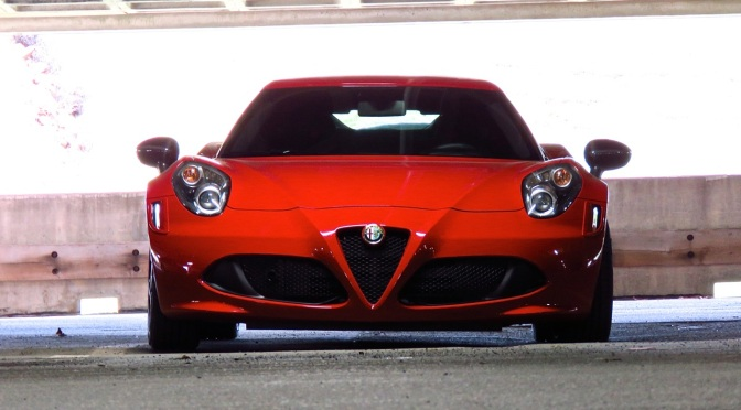 Alfa Romeo 4C Spotted in the garage in Greenwich