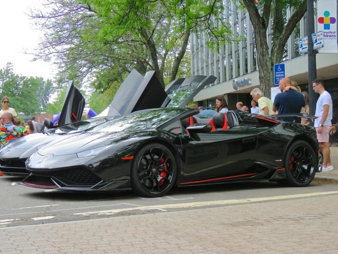 Black Widow Spec Lamborghini Huaracan Spyder at Concorso Ferrari