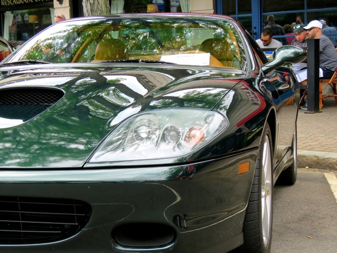 A very rare manual Ferrari 575M in Verde Zeltweg at Concorso Ferrari