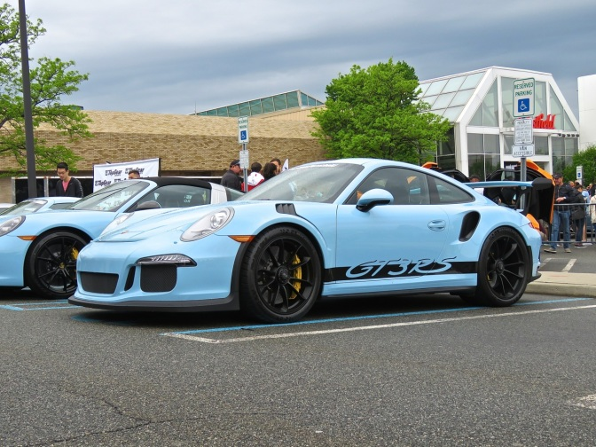 Baby Blue Porsche 991 GT3 RS at Cars and Caffe