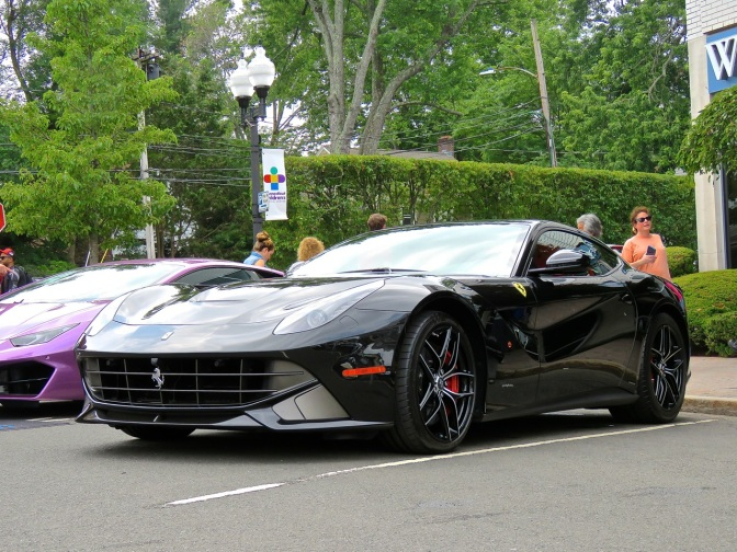 Ferrari F12 with some awesome wheels at Concorso Ferrari