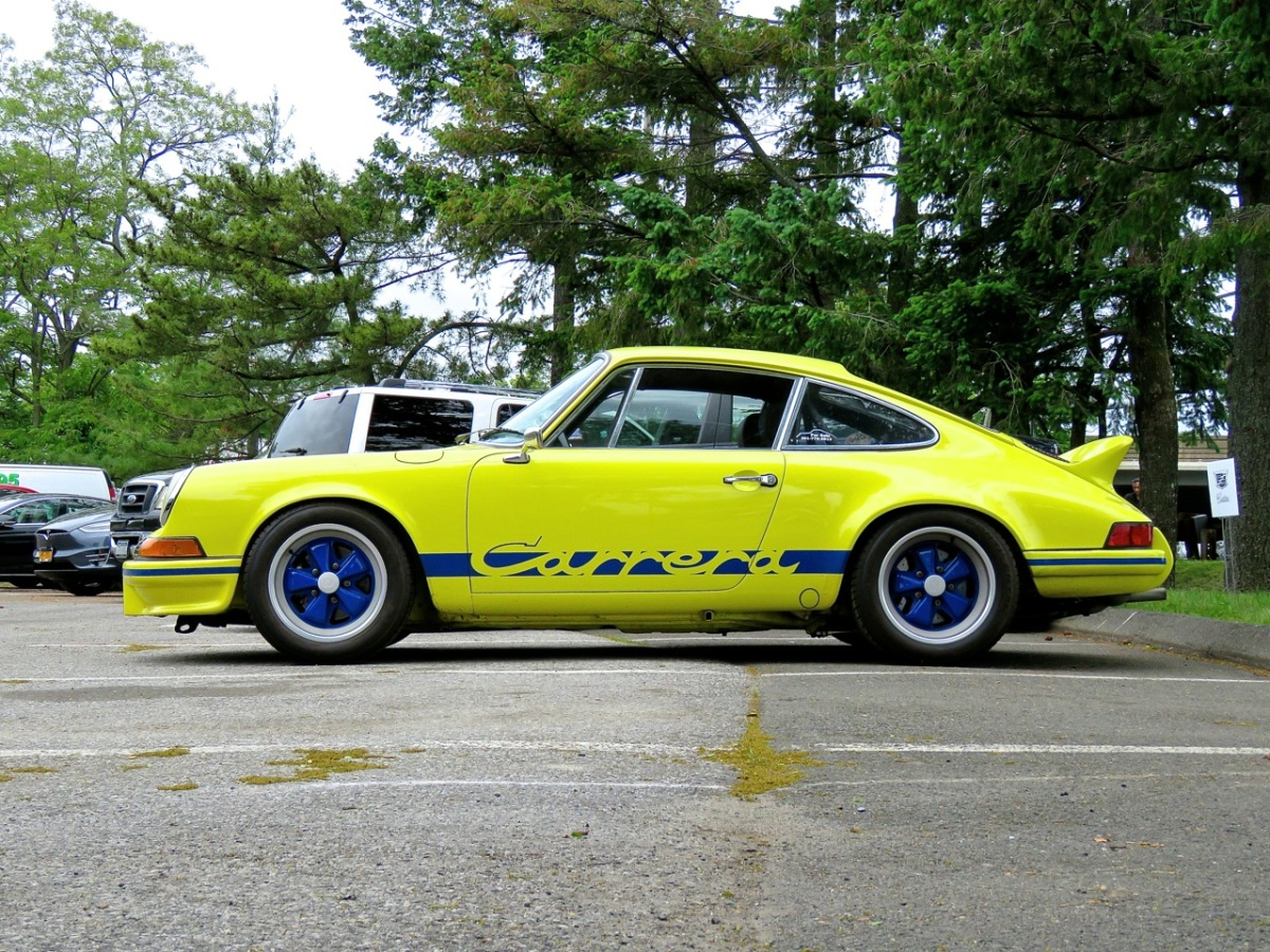 Highlighter Yellow Porsche Carrera RS Spotted in Greenwich, CT
