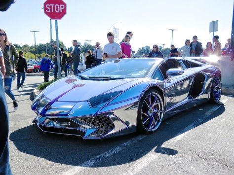 Team Salamone S Lamborghini Aventador Sv Roadster With Chrome