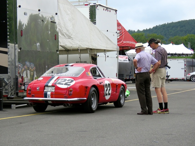 Ferrari 250 GT SWB in the Paddock at Lime Rock